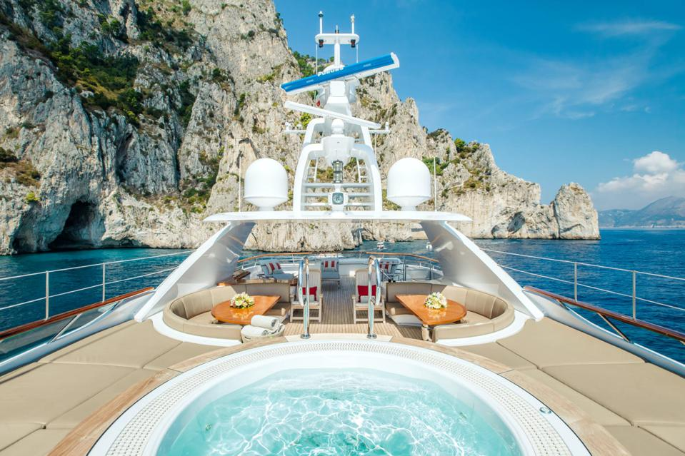 The hot tub onboard Revelery