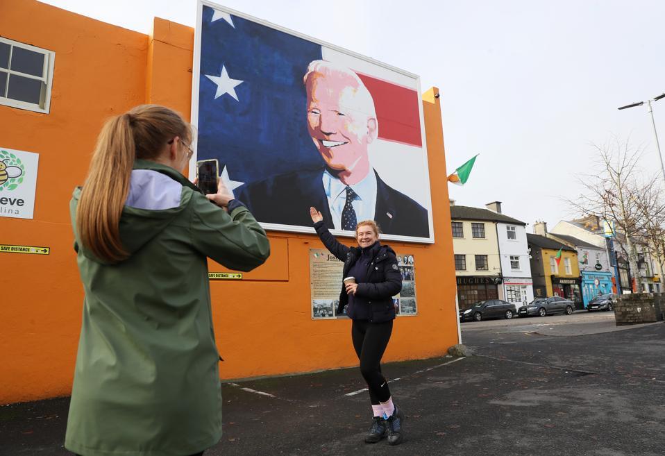 Biden mural Ballina Mayo