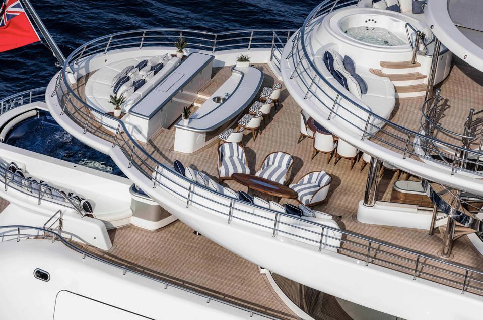 A luxury superyacht deck.