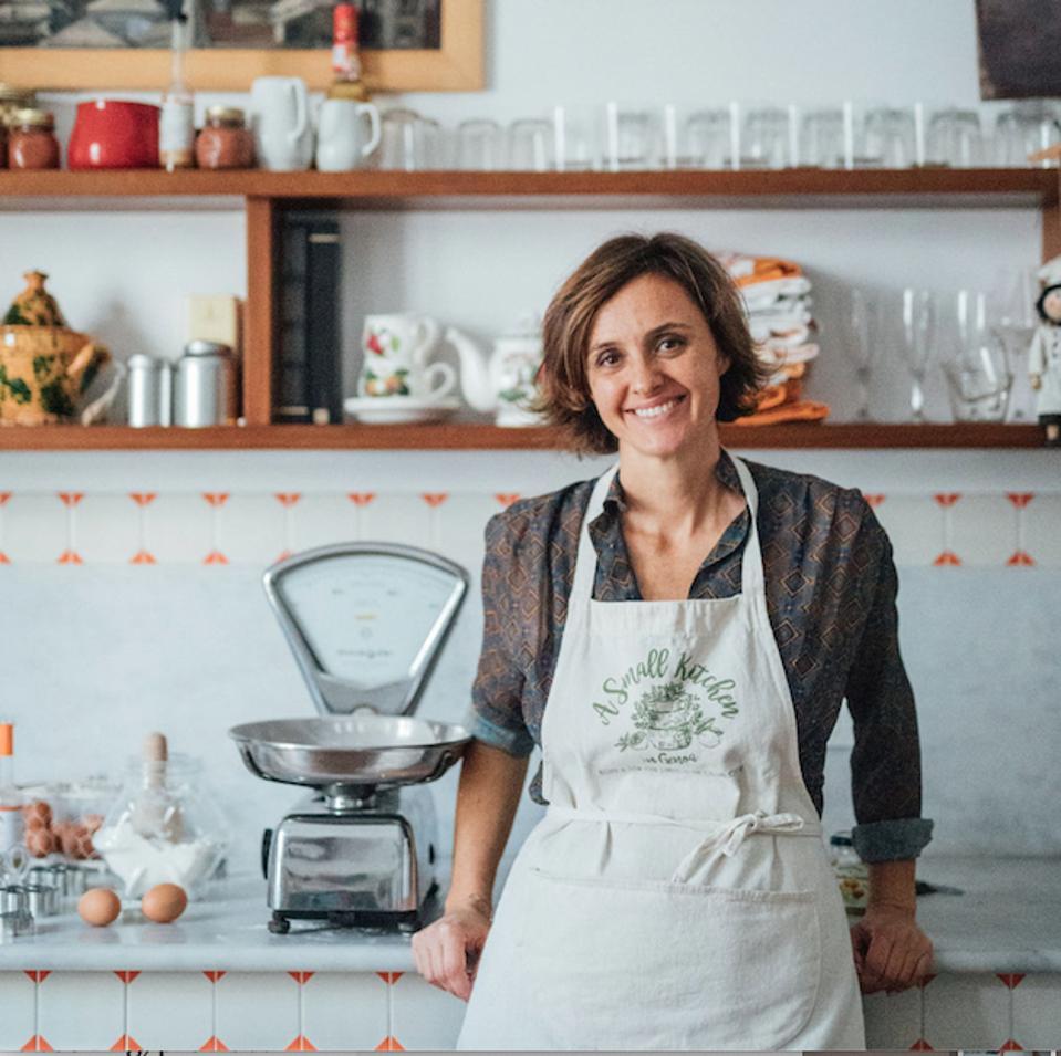 Enrica Mazoni in her kitchen in Genoa.