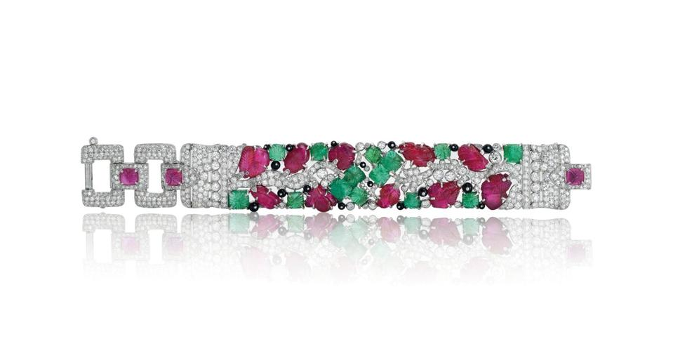 """A """"Tutti-Frutti"""" bracelet by Cartier, circa 1925, that fetched $1.2 million at Christie's"""