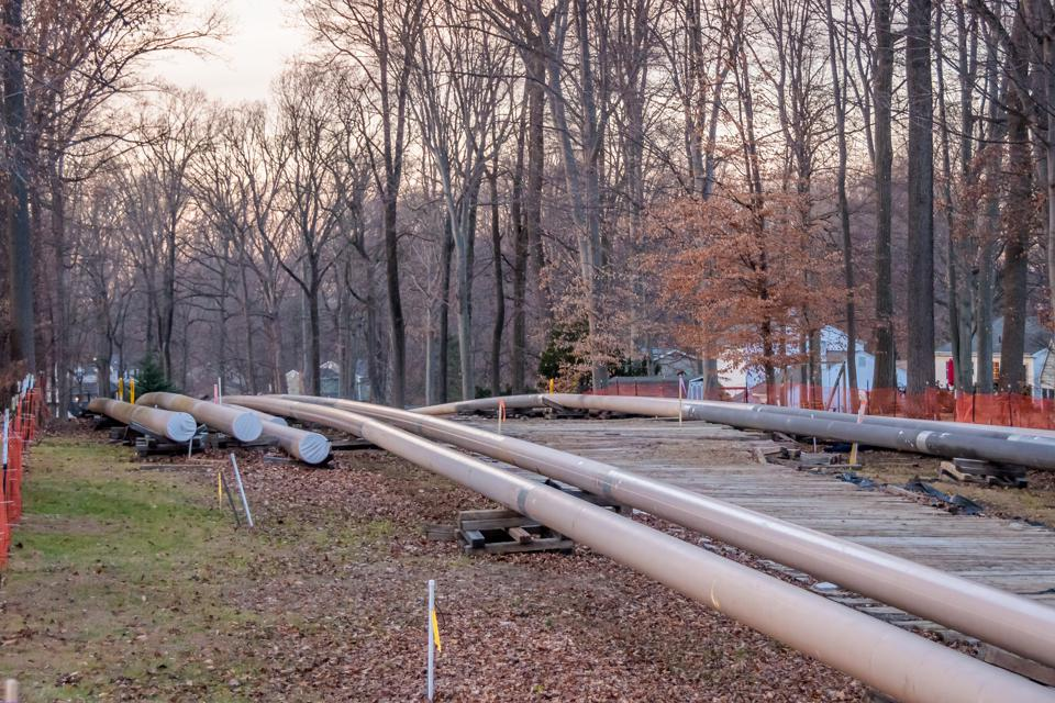 Section of the SUNOCO Mariner II East Pipeline construction...