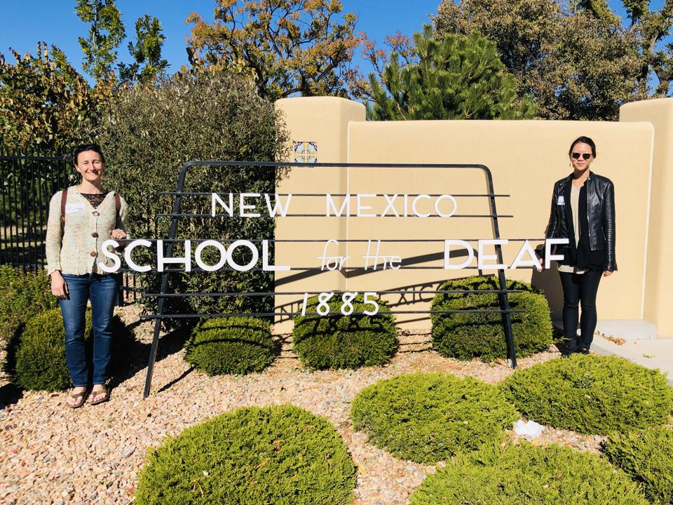 Gabriella at the New Mexico School for the Deaf, the site of AccesSOS's pilot program
