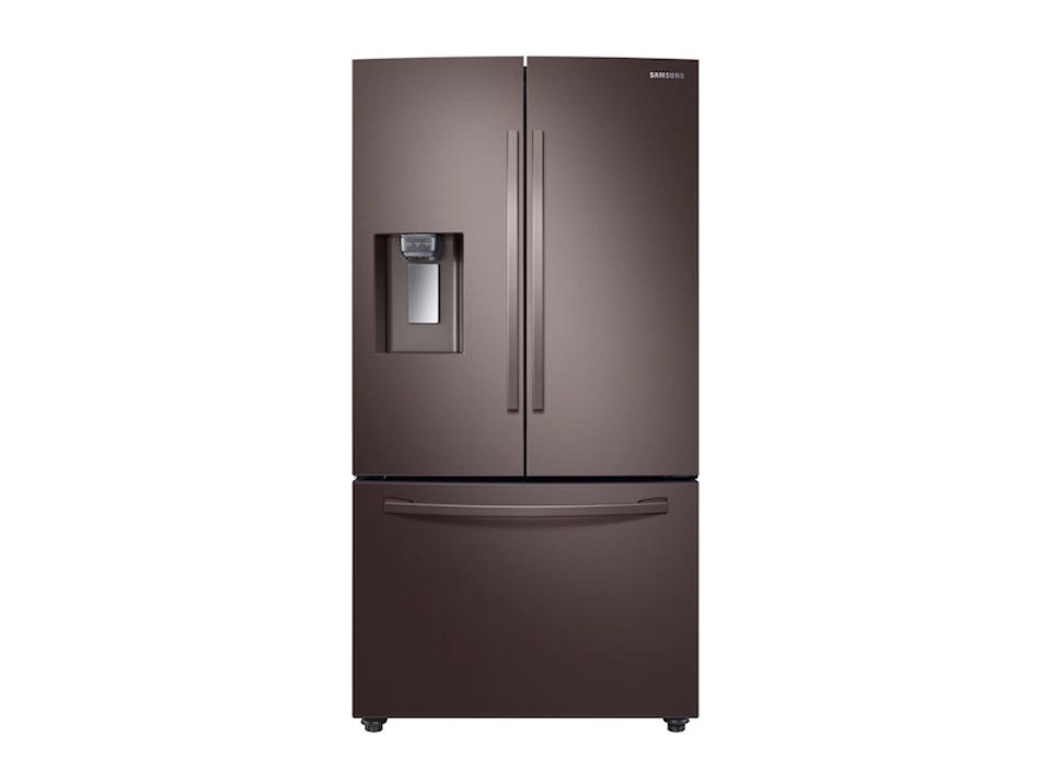 23 cu. ft. Counter Depth 3-Door French Door Refrigerator with CoolSelect Pantry™ in Tuscan Stainless Steel Refrigerator - RF23R6201DT/AA