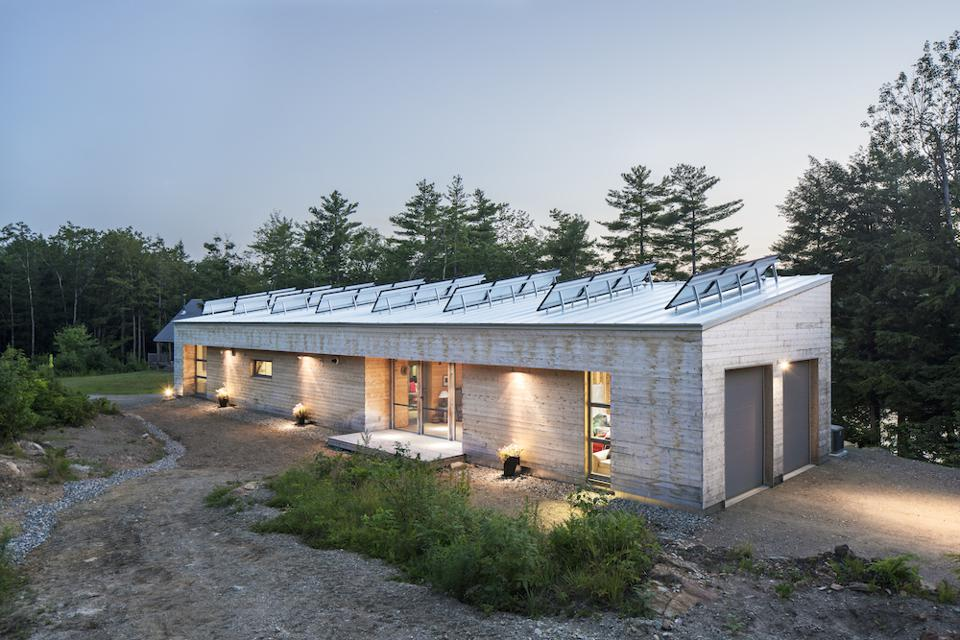 Camp Reboot in Palemo, Maine is 1,100 feet and designed by GO Logic.