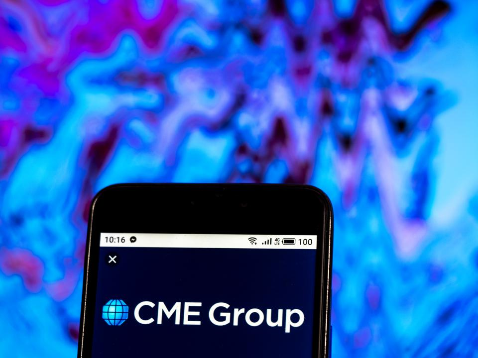 CME Group Company logo seen displayed on a smart phone