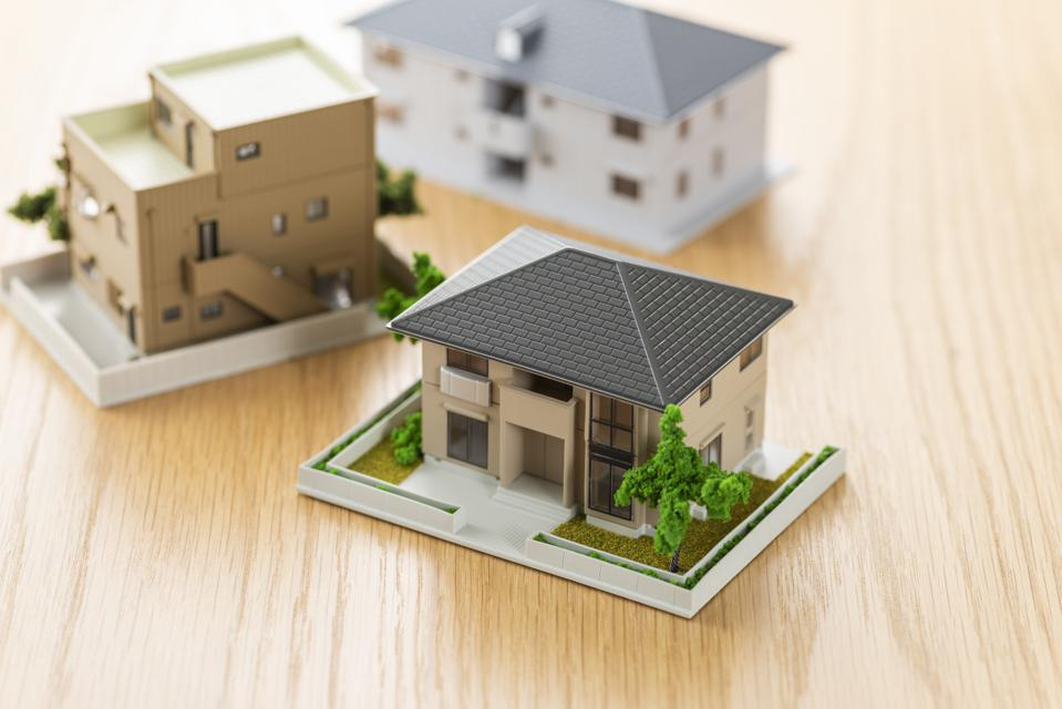 House model on wooden table