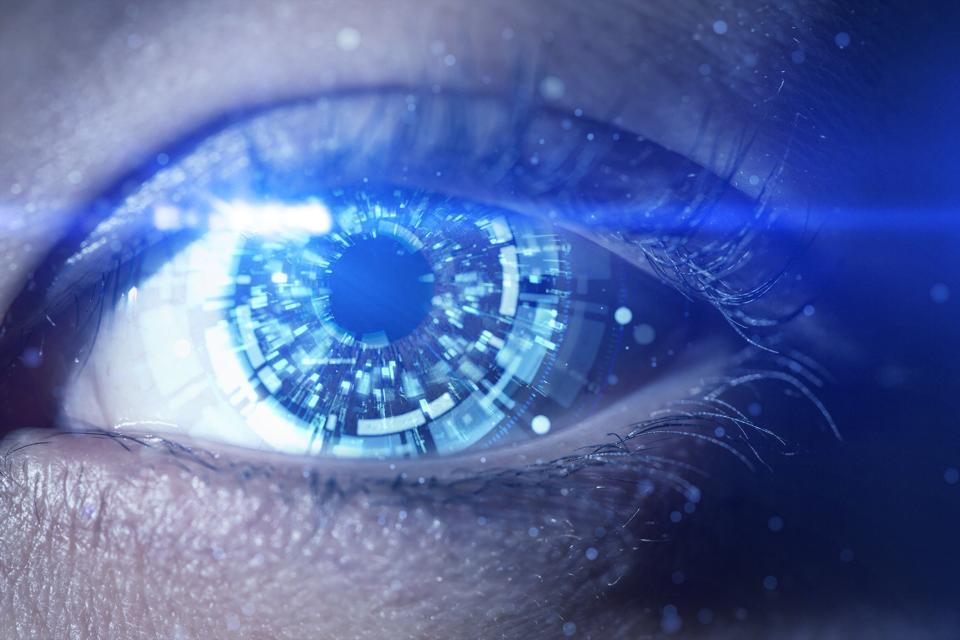 A futuristic robotic eye