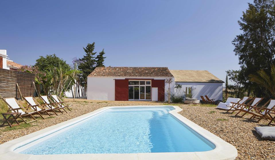 The pool at Campanhia das Culturas in the Algarve, Portugal, is inviting on warm day.