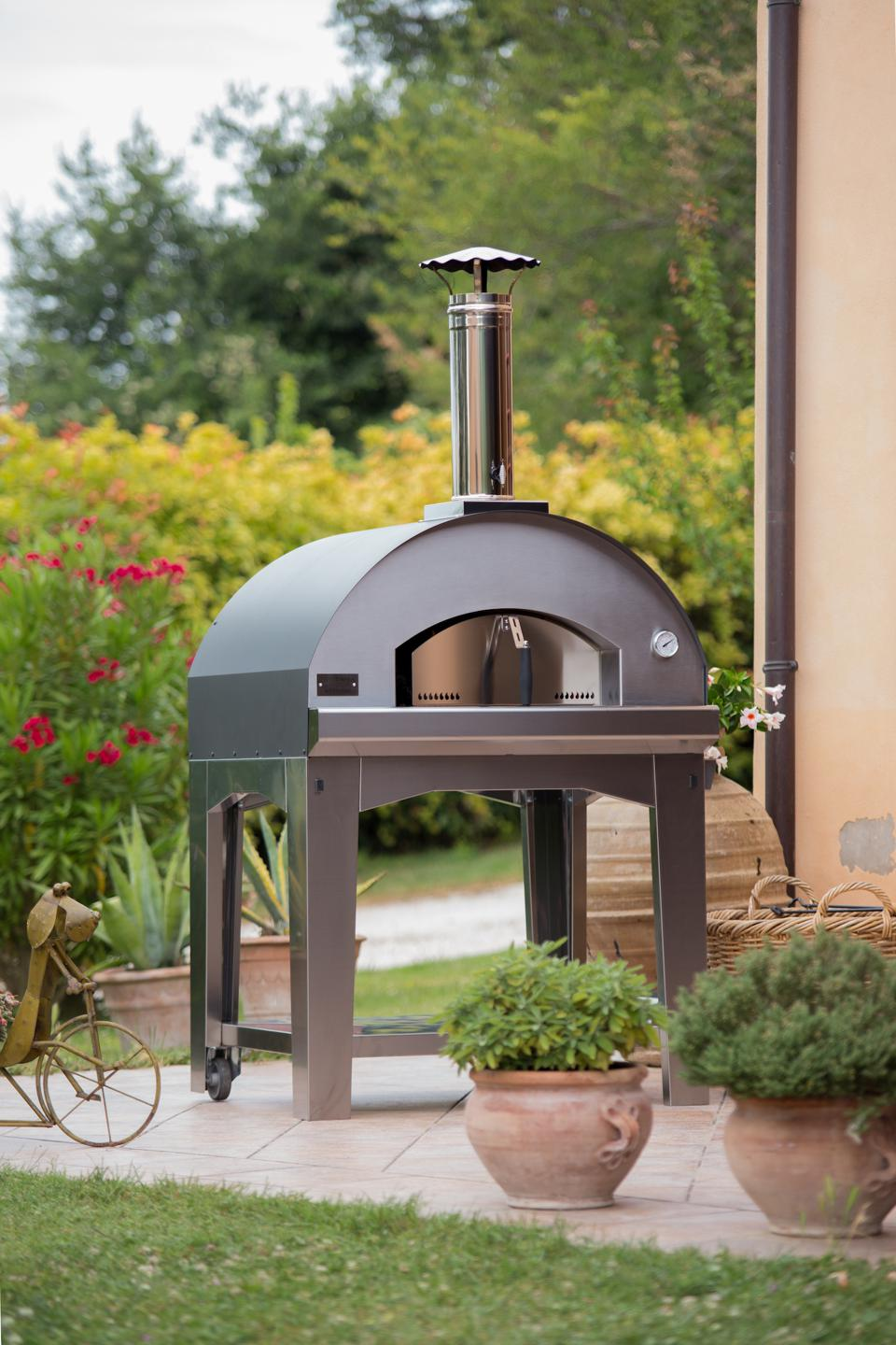 Pizza ovens like this one from Fontana Forni are becoming popular as an outdoor appliance.