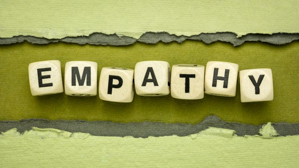 empathy word abstract in wood cubes