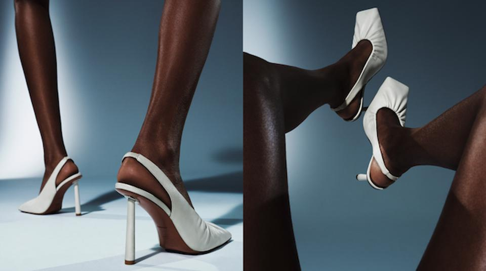 The sharp shape of the square toe and the stiletto make the Don't be Square a fashionista's dream shoe