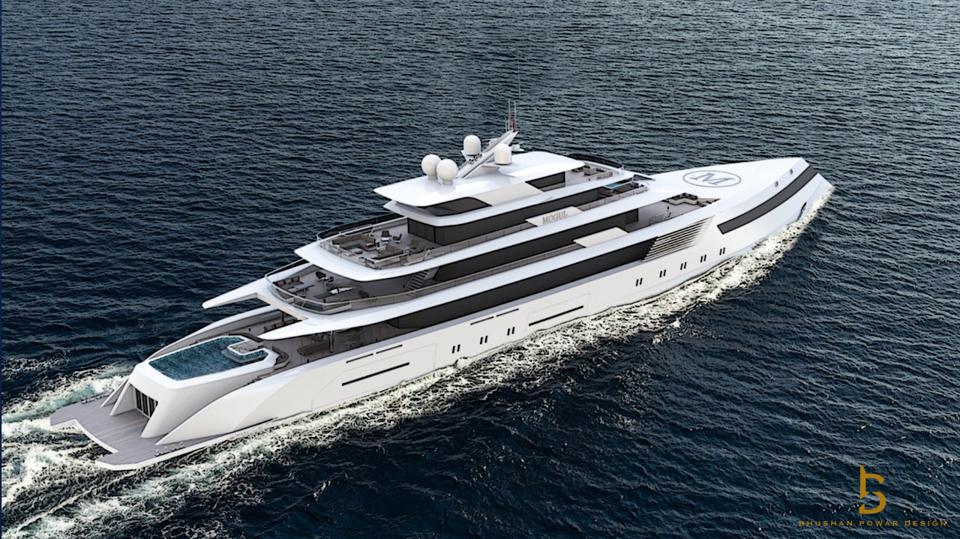 Check out the pool on this 300-foot long superyacht concept.