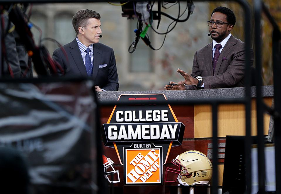 ESPN's ″College GameDay″ Films At Boston College