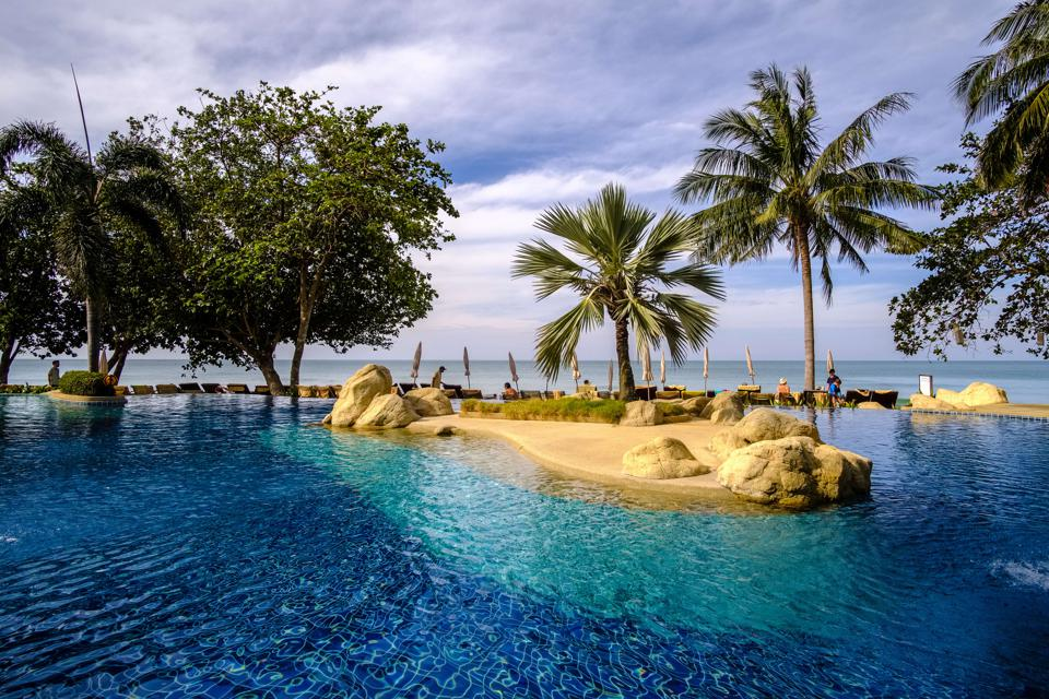A resort on the island of Koh Chang in the Gulf of Thailand