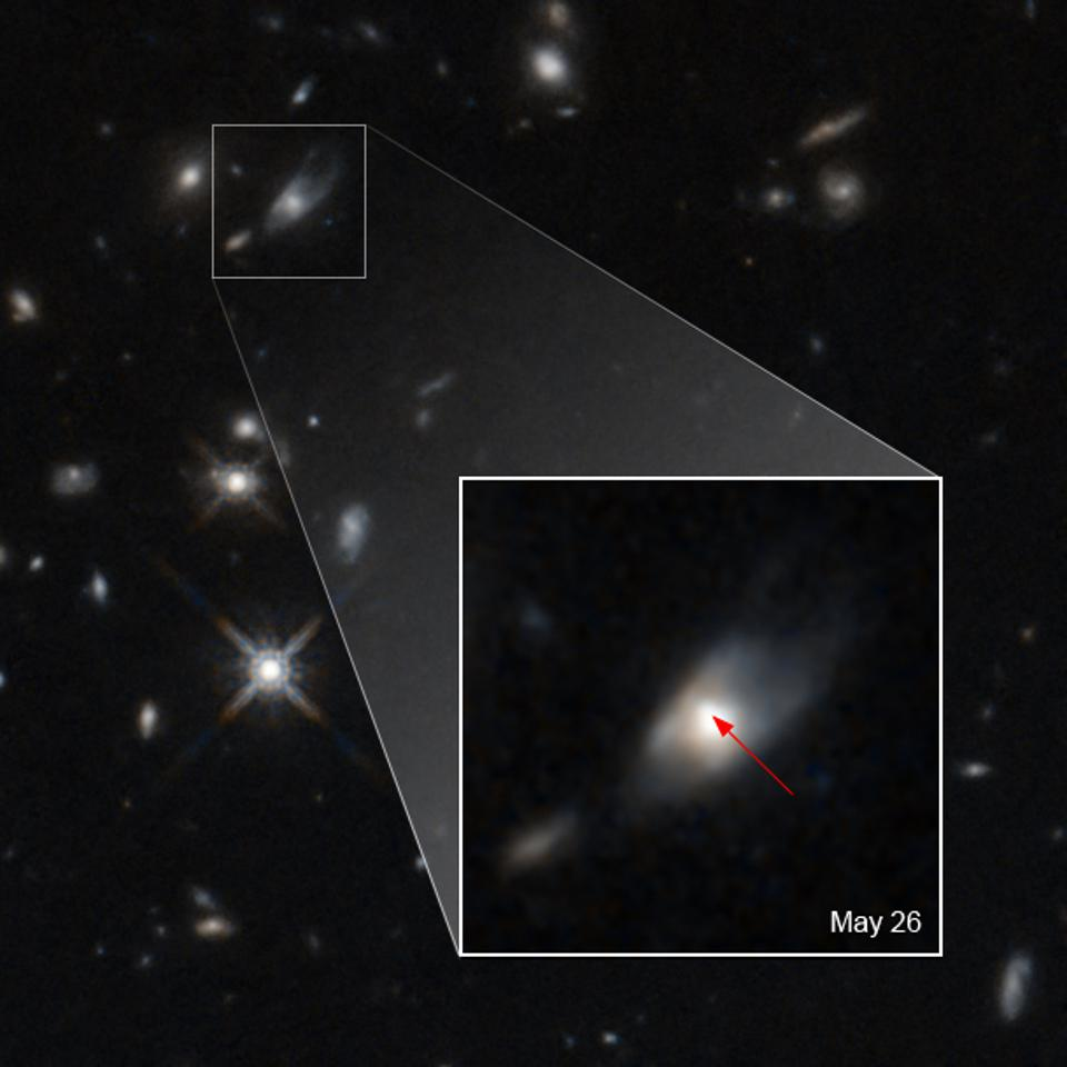 NASA's Hubble Sees Unexplained Brightness from Colossal Explosion