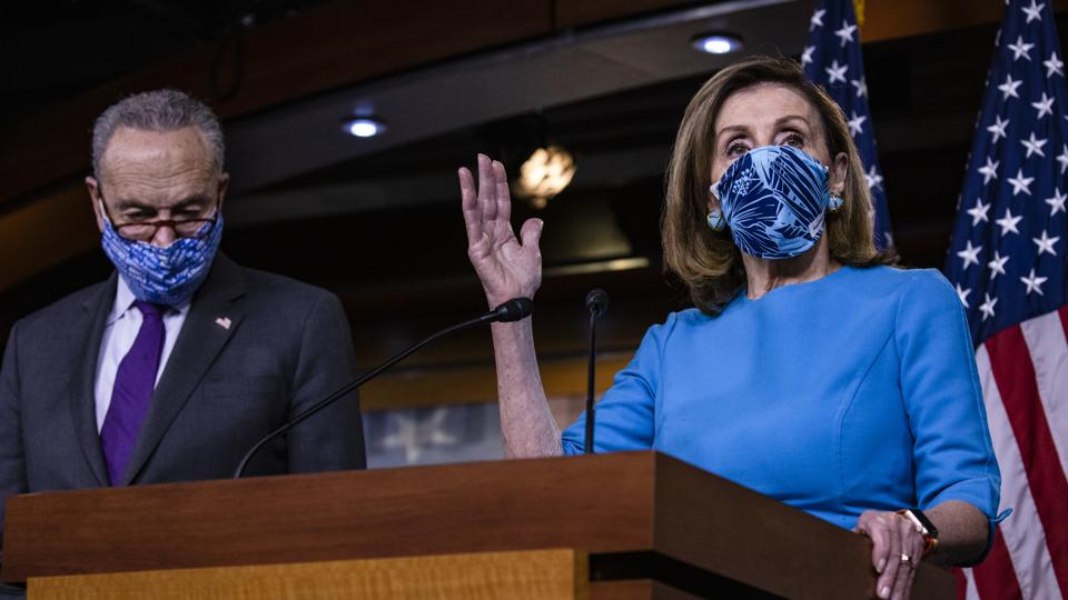House Speaker Pelosi And Senate Minority Leader Schumer Hold Media Availability On Capitol Hill