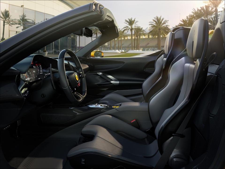 Stradale interior presages the interiors of all future Ferraris.