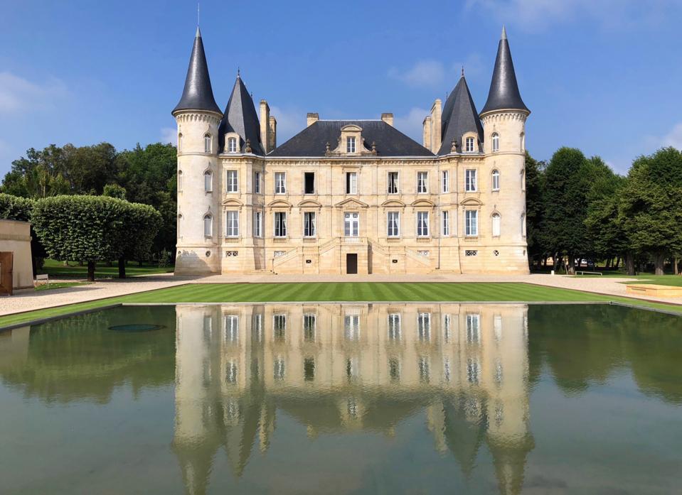 Pichon Baron Castle in Bordeaux, France