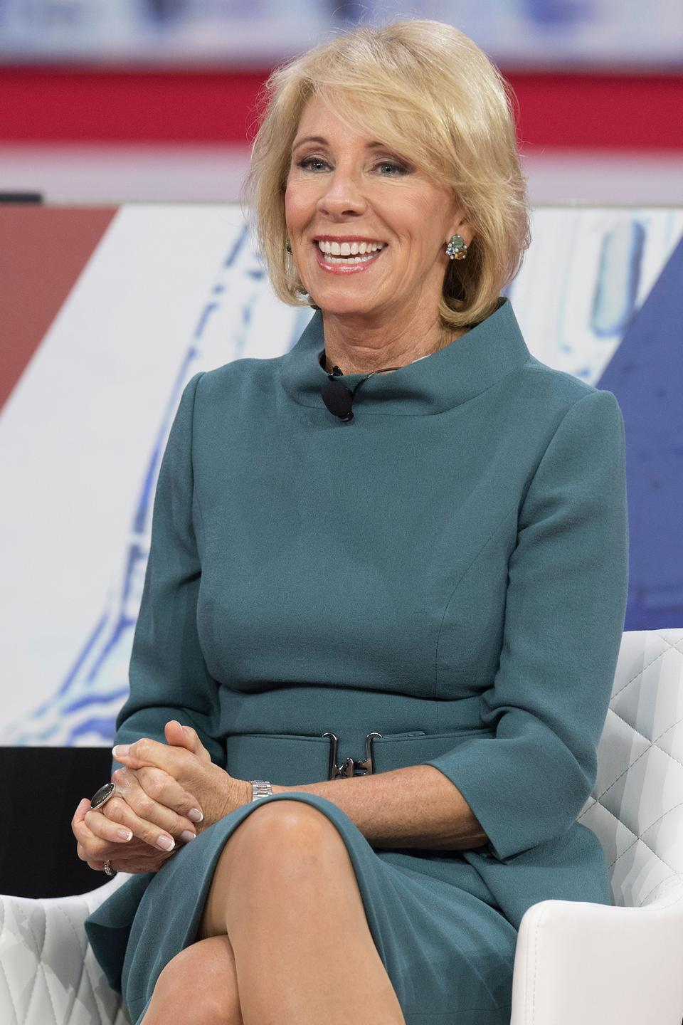 US-POLITICS-CONSERVATIVES Betsy DeVos, outgoing Secretary of Education in the Trump administration