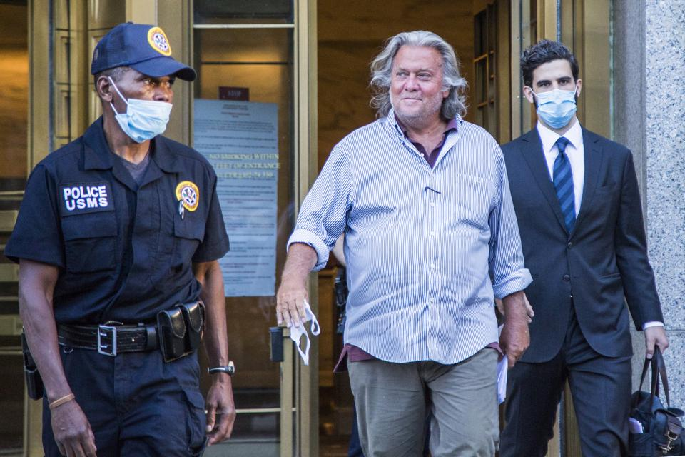 Former Trump Strategist Steve Bannon Arrested On Fraud Charges Related To Crowdfunded Built The Wall Campaign