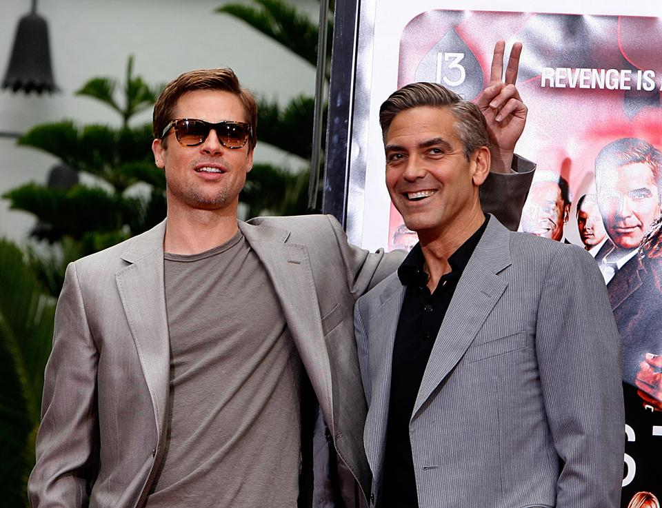 Cast of ″Ocean's 13″ Hand and Footprint Ceremony at Grauman's Chinese Theatre