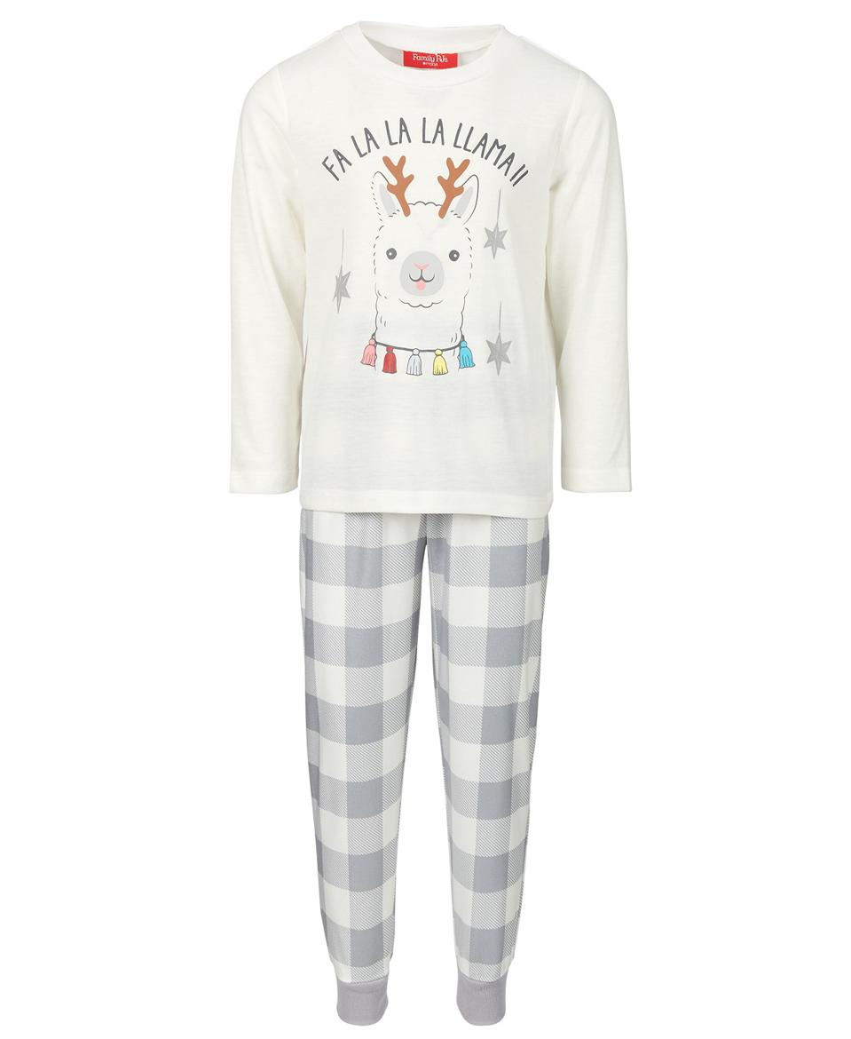 Family Pajamas Matching Kids Holiday Llama Family Pajama Set, Created for Macy's