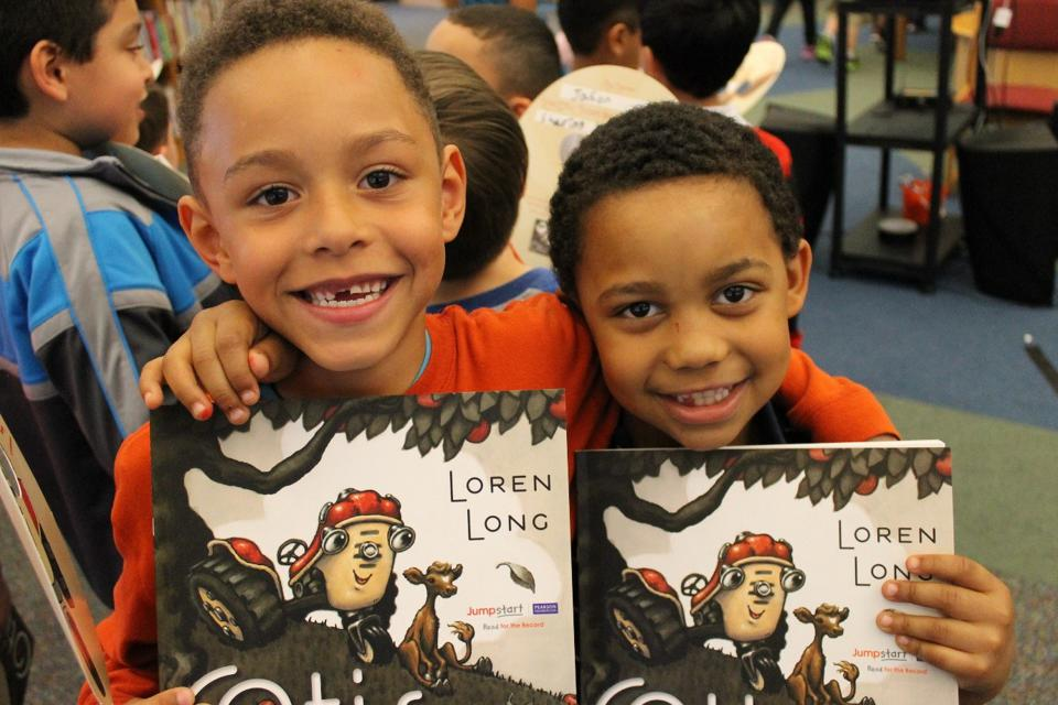 The First Book organization aims to provide education access to children.