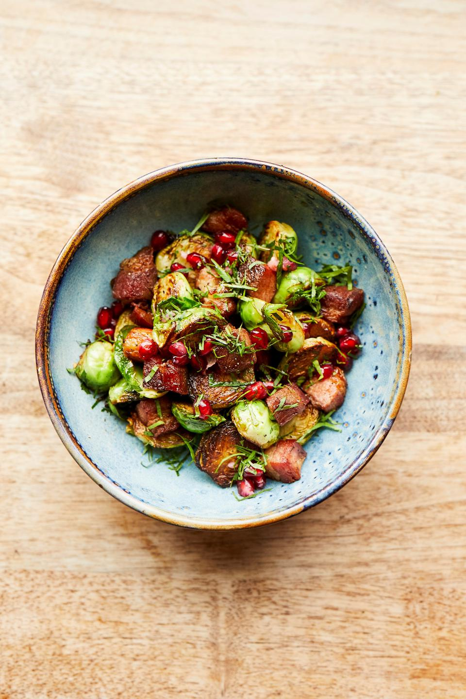 a dish of Brussels sprouts