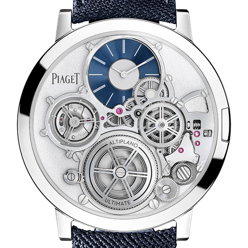 Piaget won the top prize in the 2020 Grand Prix d'Horlogerie de Genève for its Altiplano Ultimate Concept, the world's thinnest mechanical wristwatch.