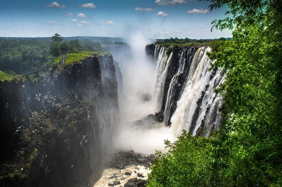 Victoria Falls on the Zambezi river, Zimbabwe