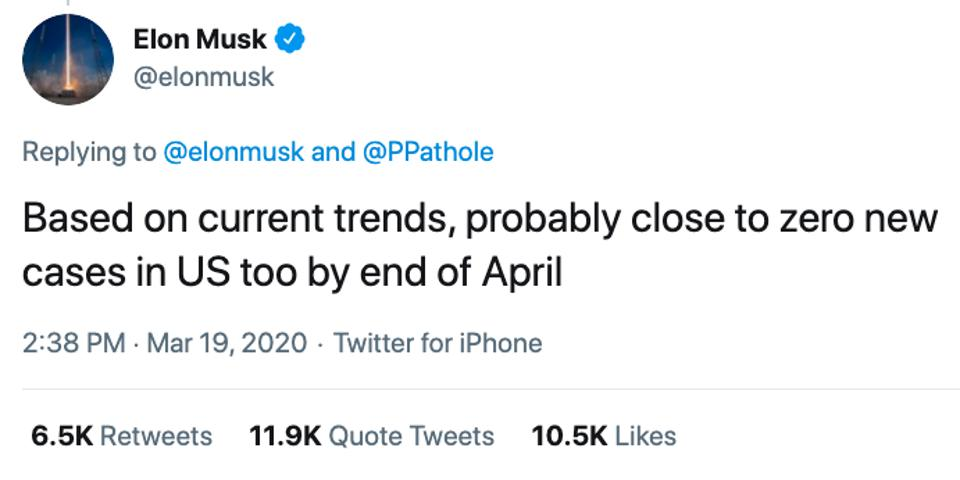 Elon Musk Says He Tested Positive For Covid 19