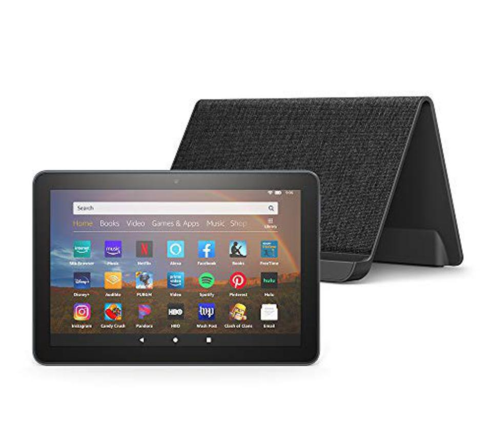 Fire HD 8 Plus 32GB tablet with wireless charging dock