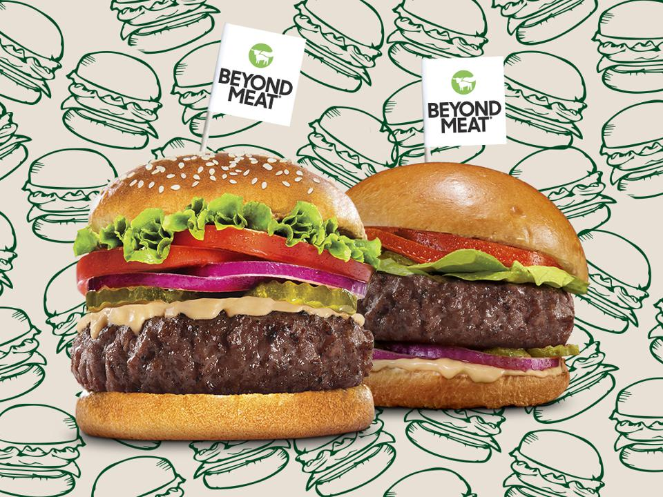 Two burgers pictured. Meet Beyond Burger's two latest.