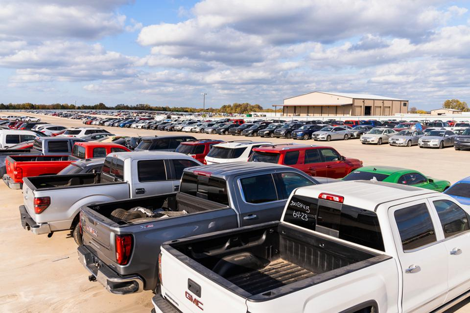 Copart's salvage yard in Dallas, Texas.