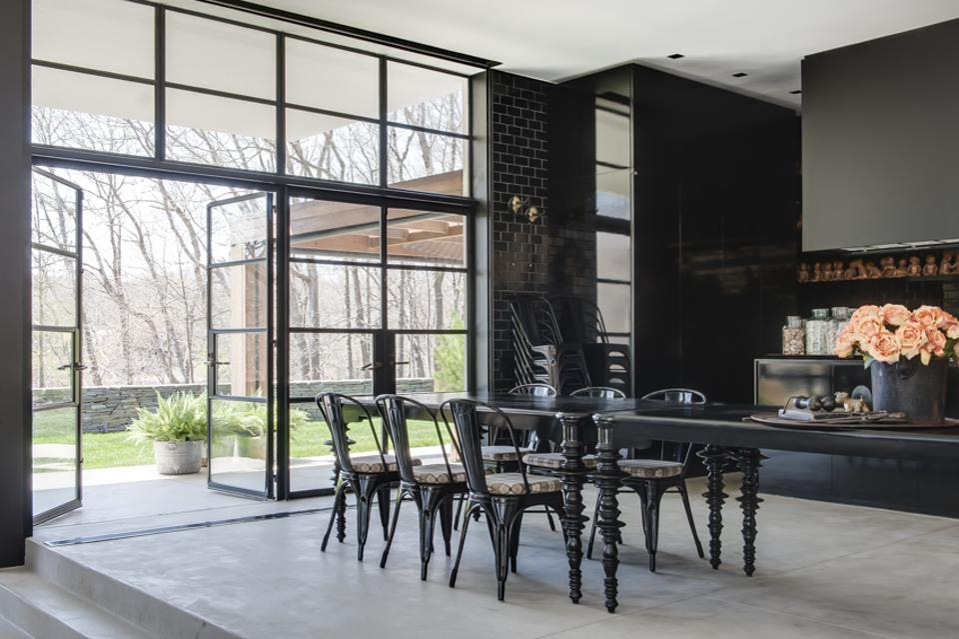 A modern dining room in Sag Harbor
