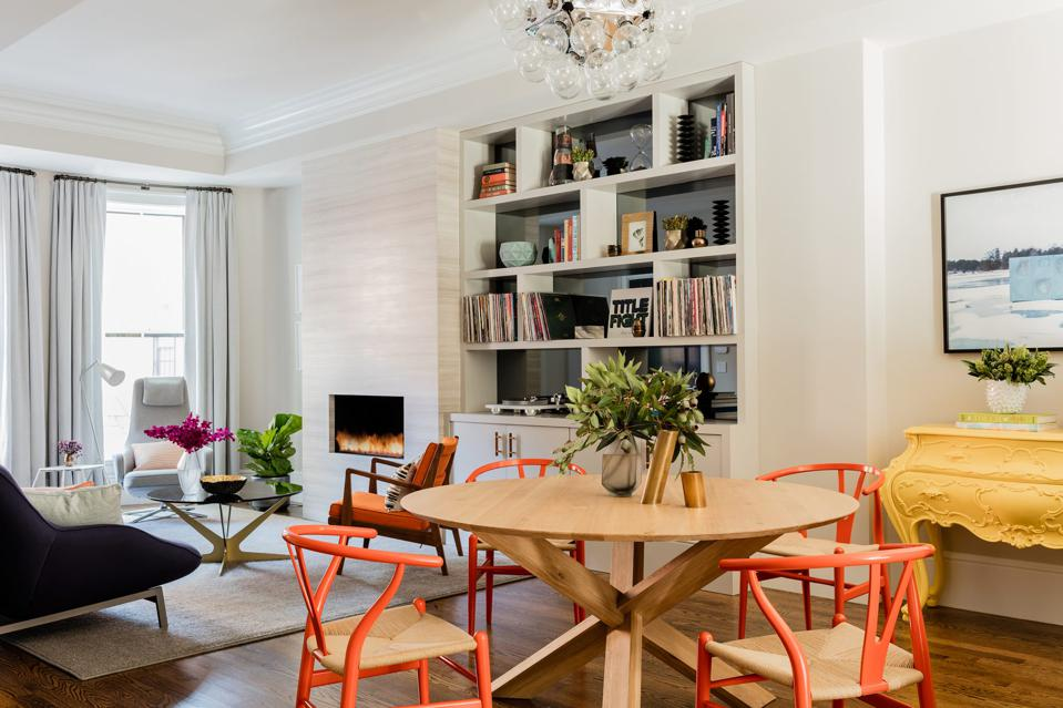 A Boston dining room by Elms Interior Design