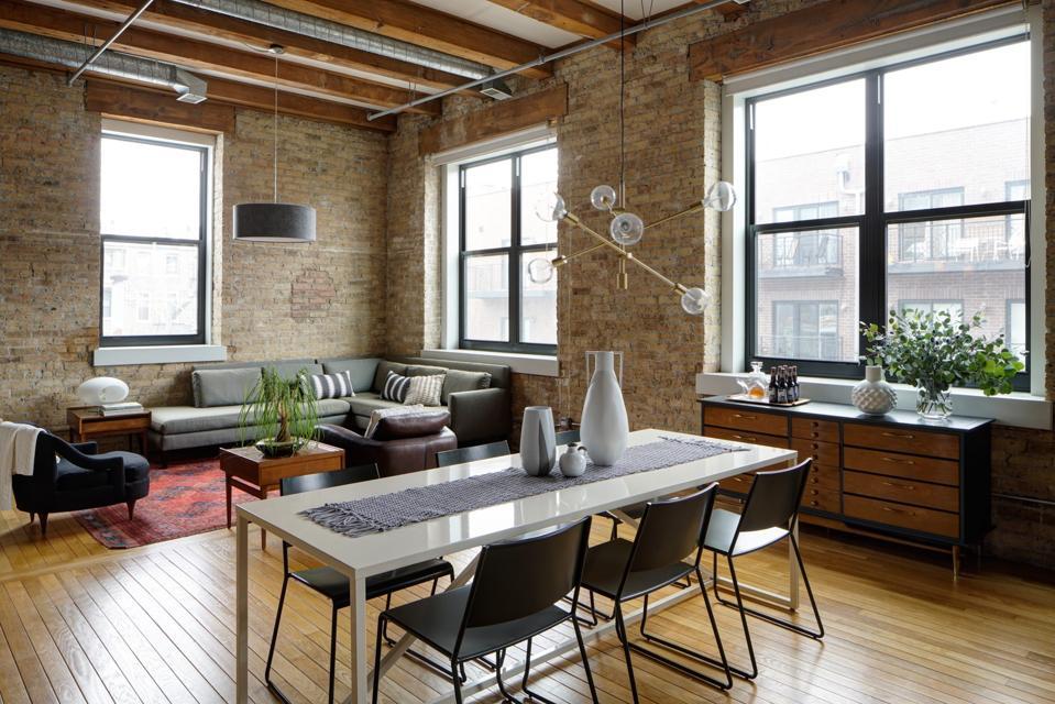 A Chicago loft dining room by Maren Baker