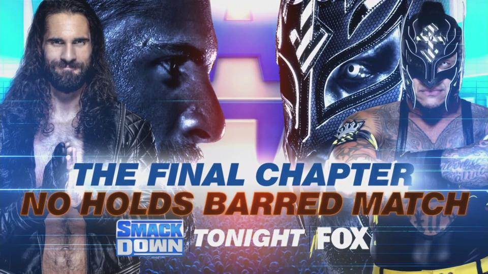 Rey Mysterio took on Seth Rollins in a no holds barred match on WWE SmackDown.