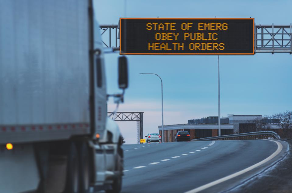 Trucking during State of Emergency