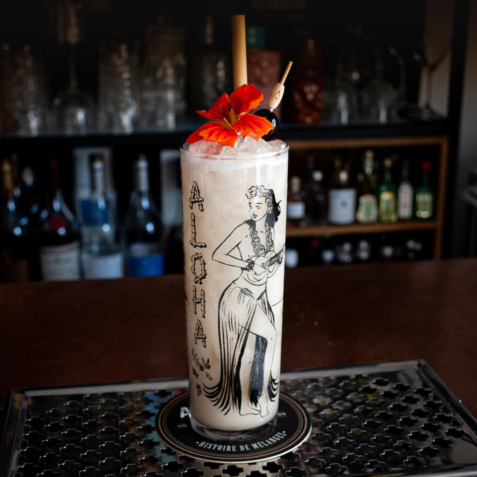 The Tiki Lilli, created by Emmanuel Brandelet, Les Artisans du Cocktail.