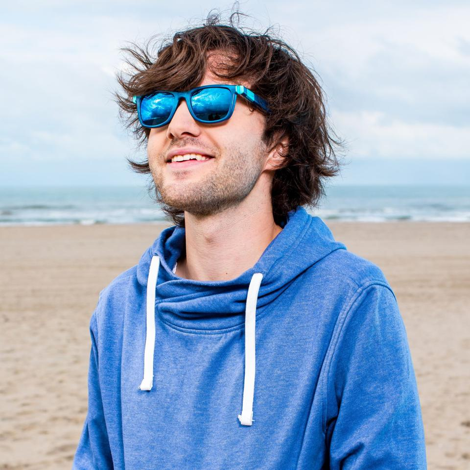 Founder and CEO Boyan Slat in The Ocean Cleanup sunglasses