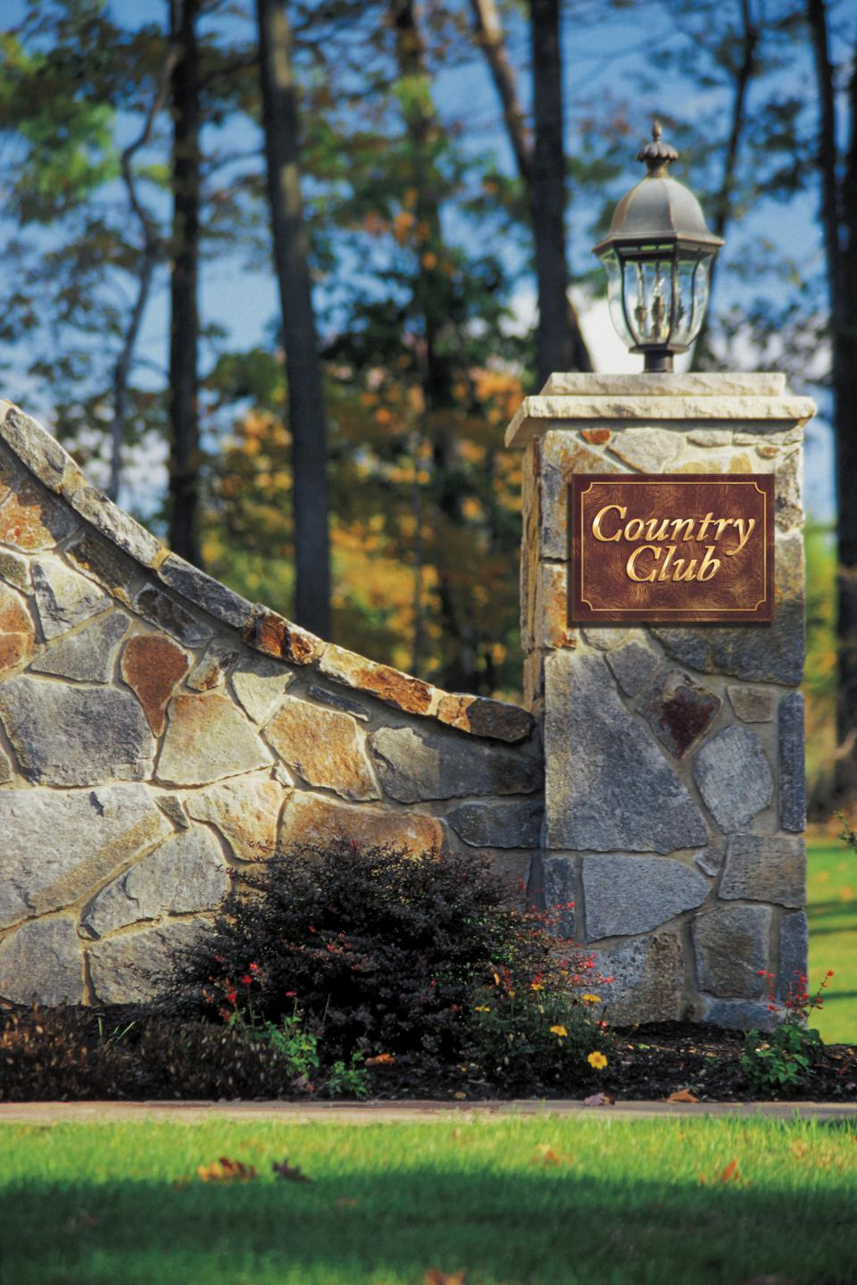 Gate to country club
