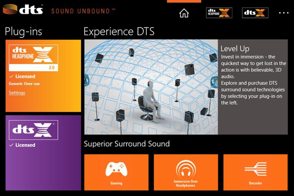DTS Sound Unbound app