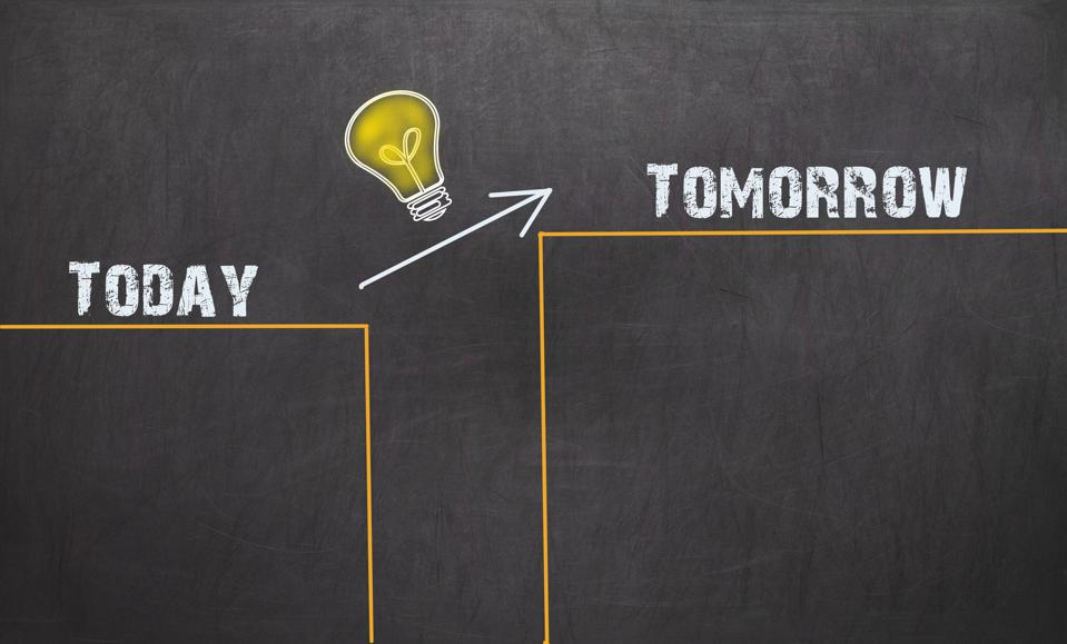 Great Idea Change Concept - Today and Tomorrow