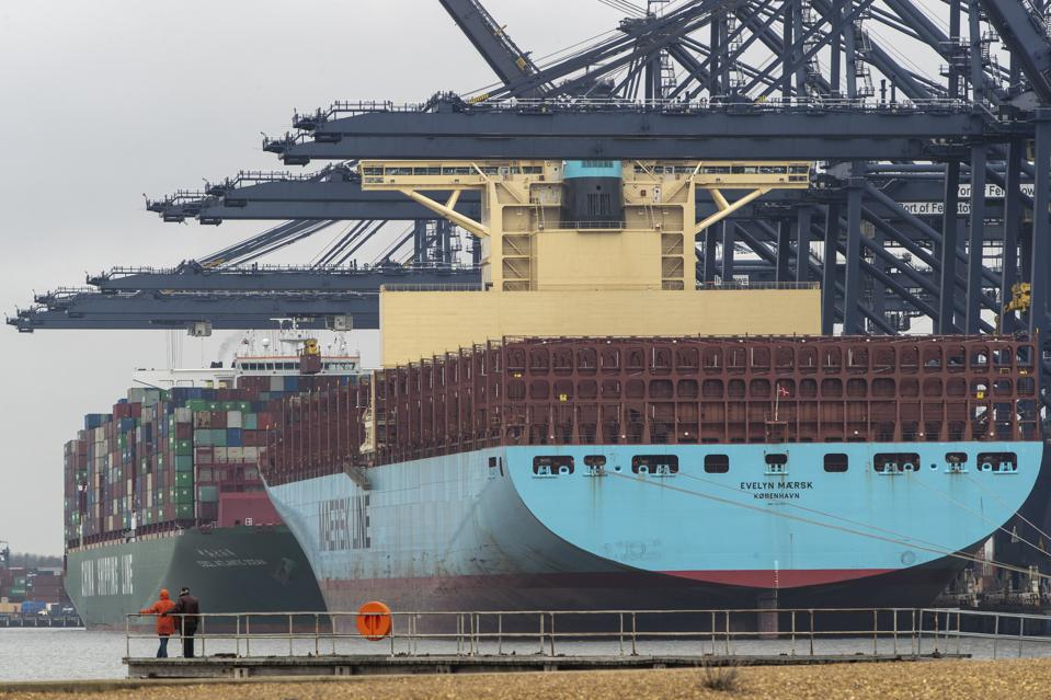 The deep water port of Felixstowe, in Suffolk is the United Kingdom's busiest container port, dealing with 42% of Britain's containerised trade. The port has agreed to increase capacity by more than 40%, to help freight shipping after Brexit.