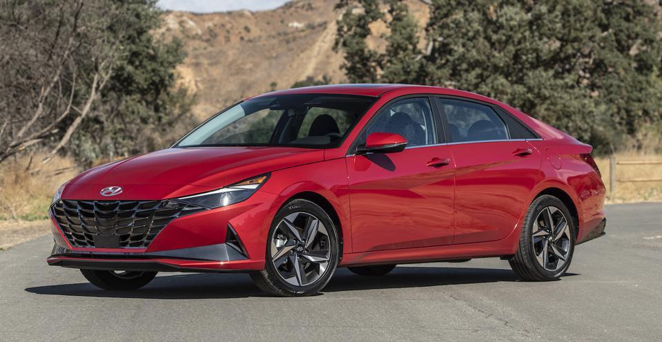 2021 Hyundai Elantra Front Red