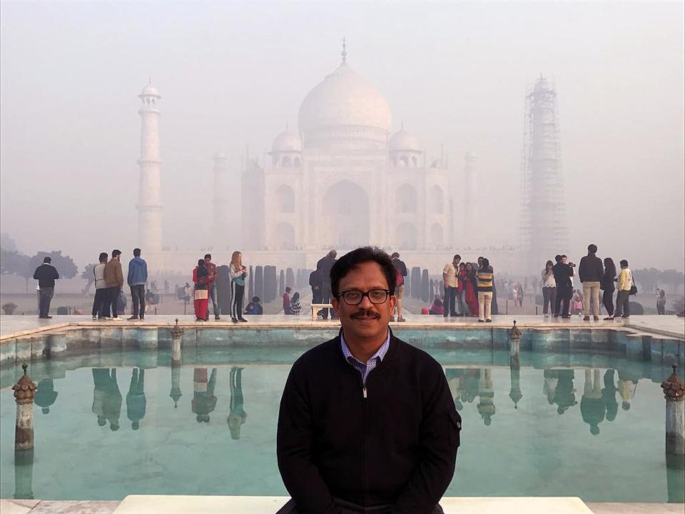 Sajan Pillai at Taj Mahal