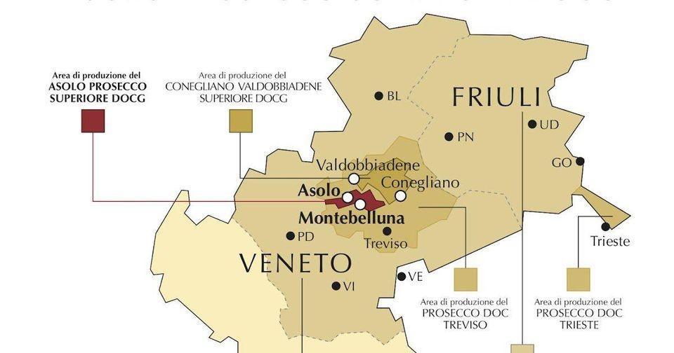 The Prosecco producing region
