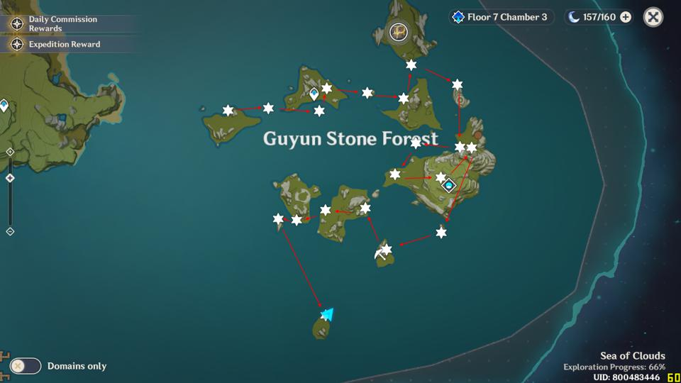 Here S A Genshin Impact Meteorite Shard Location Map For The Unreconciled Stars Event